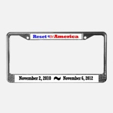 Reset America License Plate Frame