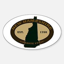 New Hampshire Est. 1788 Sticker (Oval)
