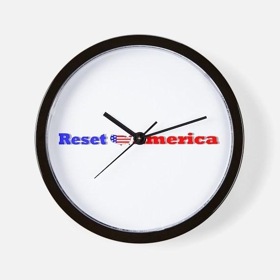 Reset America Wall Clock