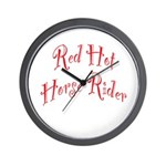 Red Hot Horse Rider Wall Clock