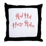 Red Hot Horse Rider Throw Pillow