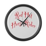 Red Hot Horse Rider Large Wall Clock