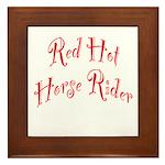 Red Hot Horse Rider Framed Tile