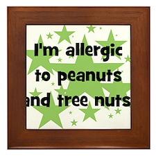 I am allergic to Peanuts & Tr Framed Tile