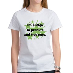 I am allergic to Peanuts & Tr Tee