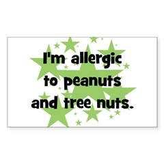 I am allergic to Peanuts & Tr Sticker (Rectangle)