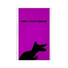 Make Cancer Extinct Breast Cancer Rectangle Magnet