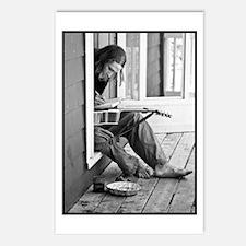 Cute Man black Postcards (Package of 8)