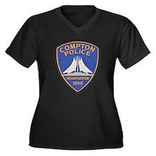 Compton Police Last Style Women's Plus Size V-Neck