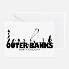 OUTER BANKS - watersports Greeting Card