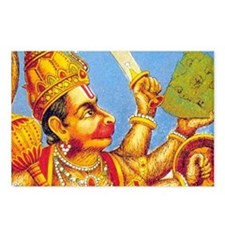 Lord Hanuman : Postcards (Package of 8)