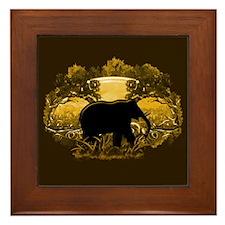 Elephant in Nature Framed Tile