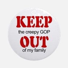 Keep out... family Ornament (Round)
