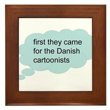 first they came - bubble Framed Tile