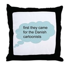 first they came - bubble Throw Pillow