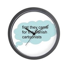 first they came - bubble Wall Clock