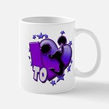 I Love To Cheer (Purple) Small Small Mug