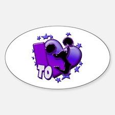 I Love To Cheer (Purple) Decal