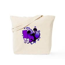 I Love To Cheer (Purple) Tote Bag