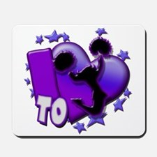I Love To Cheer (Purple) Mousepad