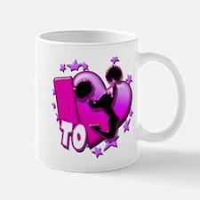 I Love To Cheer (Pink) Mug