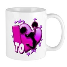 I Love To Cheer (Pink) Small Mug