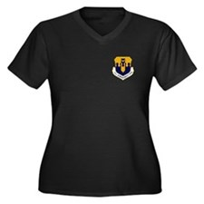 43rd Bomb Wing Women's Plus Size V-Neck T (Dark)