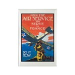 Join the Air Service Poster Art Rectangle Magnet (