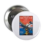 Join the Air Service Poster Art Button