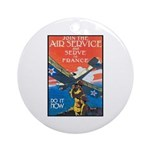 Join the Air Service Poster Art Ornament (Round)