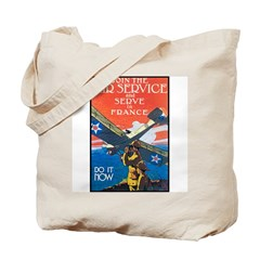 Join the Air Service Poster Art Tote Bag