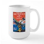 Join the Air Service Poster Art Large Mug