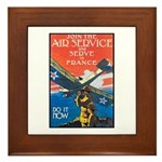 Join the Air Service Poster Art Framed Tile