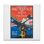 Join the Air Service Poster Art Tile Coaster