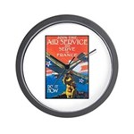 Join the Air Service Poster Art Wall Clock