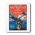 Join the Air Service Poster Art Mousepad