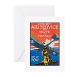 Join the Air Service Poster Art Greeting Cards (Pa
