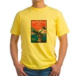 Join the Air Service (Front) Yellow T-Shirt
