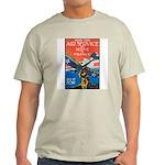 Join the Air Service Poster Art Ash Grey T-Shirt