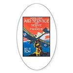 Join the Air Service Poster Art Oval Sticker