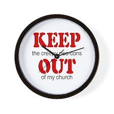 Keep out... church Wall Clock