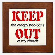 Keep out... church Framed Tile
