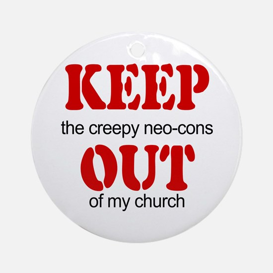 Keep out... church Ornament (Round)