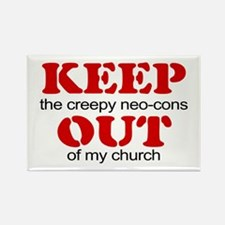 Keep out... church Rectangle Magnet