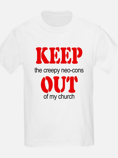 Keep out... church Kids T-Shirt