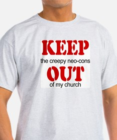 Keep out... church Ash Grey T-Shirt