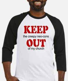 Keep out... church Baseball Jersey