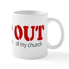 Keep out... church Mug
