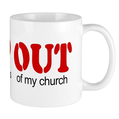Keep out... church Mug