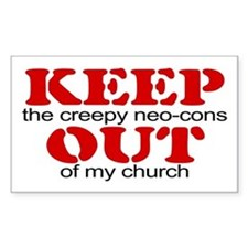 Keep out... church Rectangle Decal